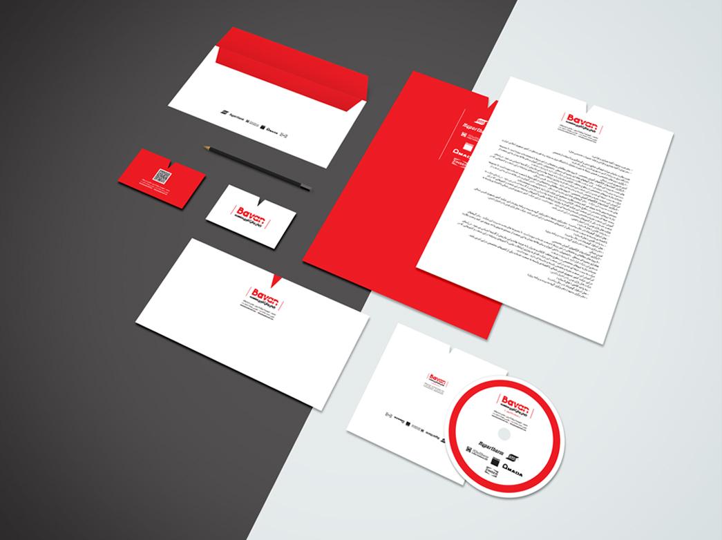 corporate identity - باوان برش
