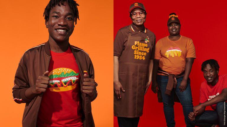 "bk rebrand stills uniform 4 1609951280 - بازنگری در هویت بصری رستوران های زنجیره ای ""برگرکینگ"" پس از 20 سال!"